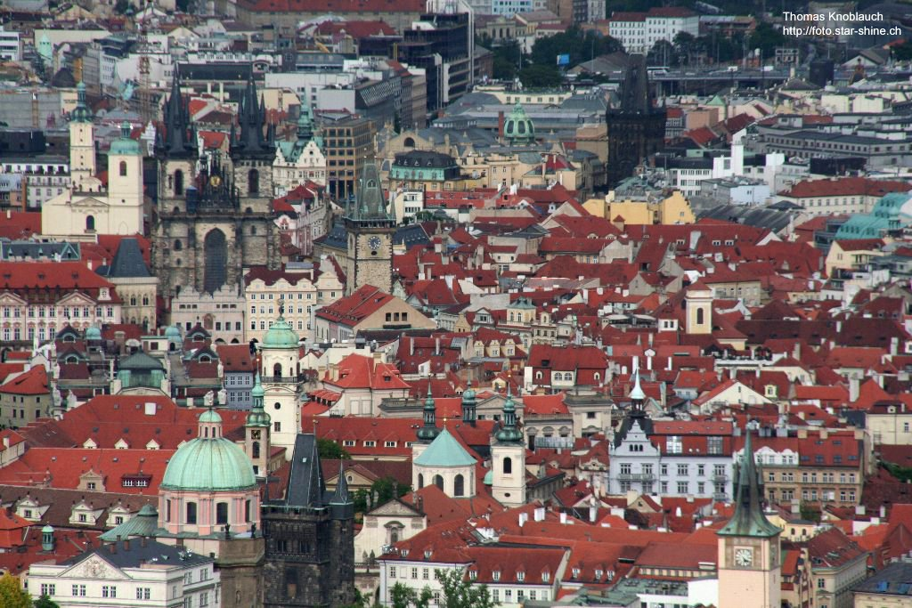 The roofs of Prague, Czechia