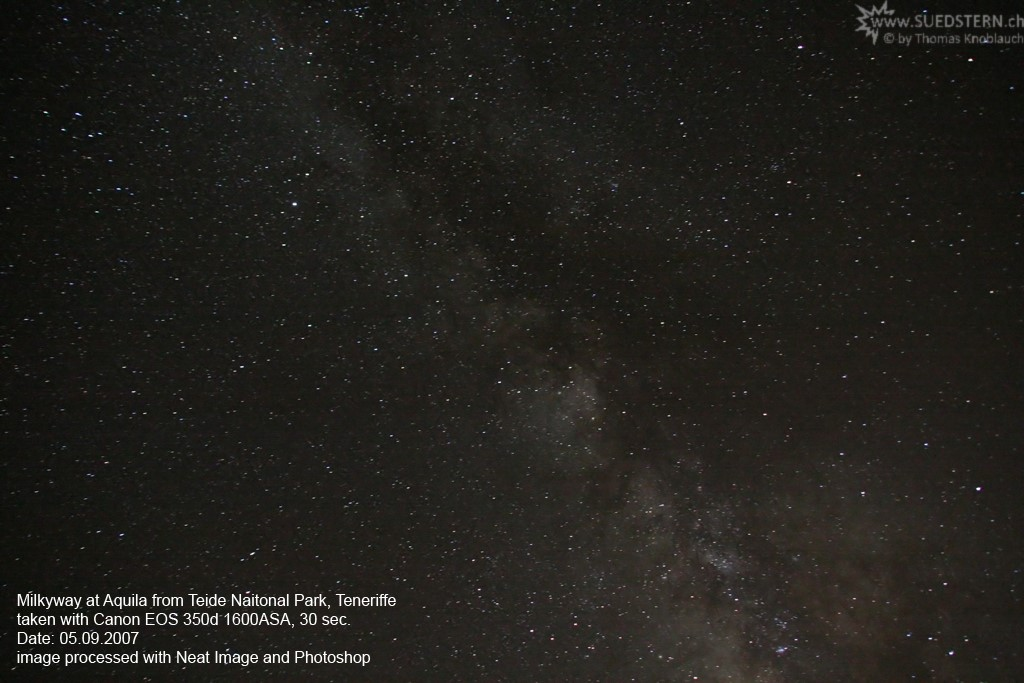 2007-09-05 - Milkyway in Aquila, Teneriffe