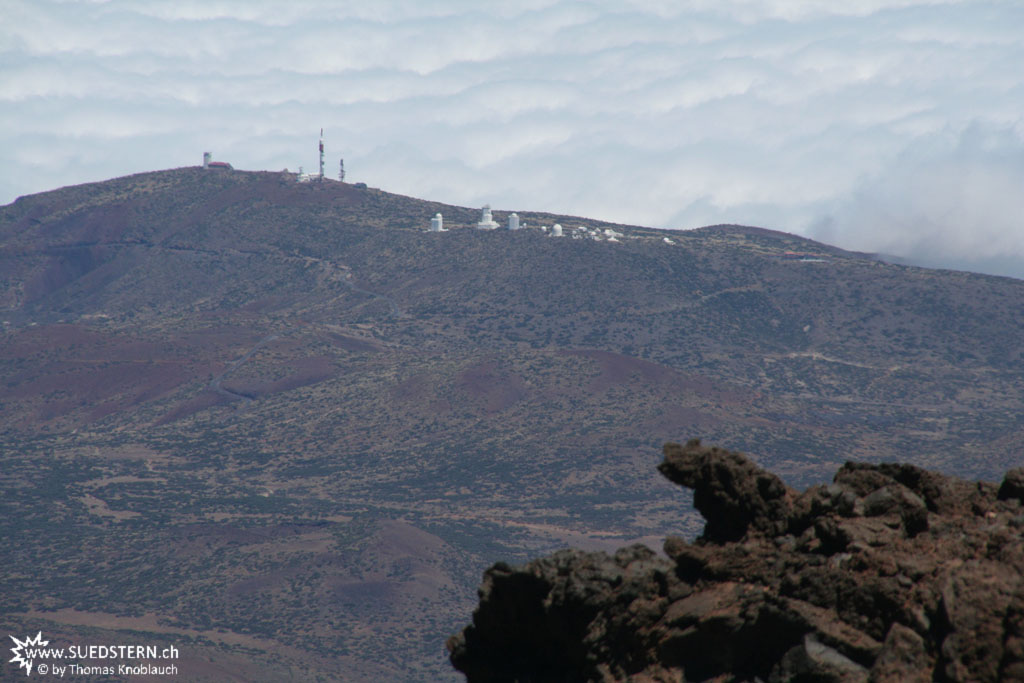 Observatories of Izaña seen from Teide-Mountain - IMG 0842