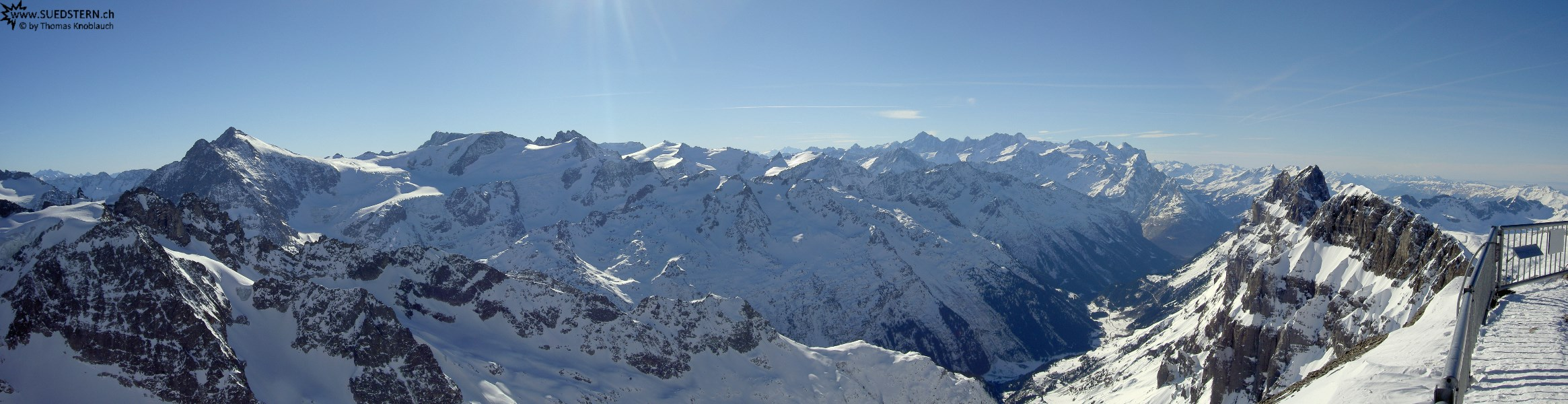 2008-01-29 - Panorama of Bernese Alps seen from Titlis, Switzerland