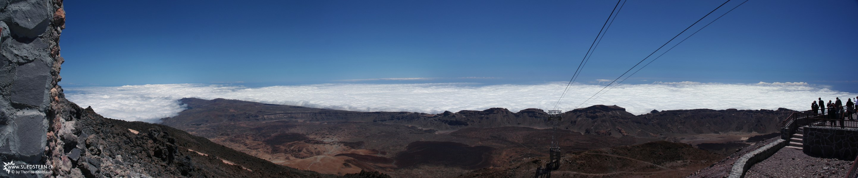 2007-09-06 - 09 - Teneriffa, panorama direction south from Teide mountain station altitude 3500m