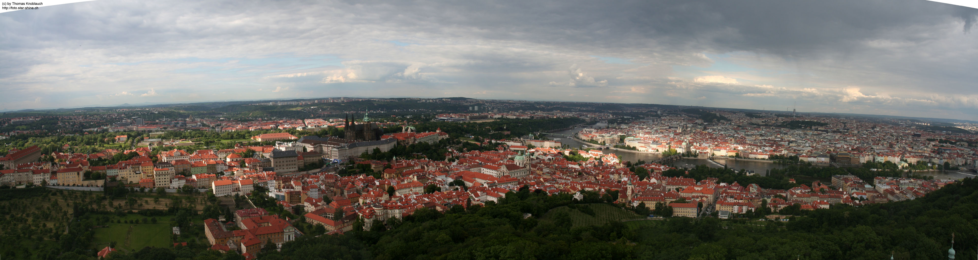 Panorama of Prague, Czechia