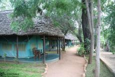 IMG 7644-Kenya, comfortable tent cabins at Crocodile Camp near Tsavo East
